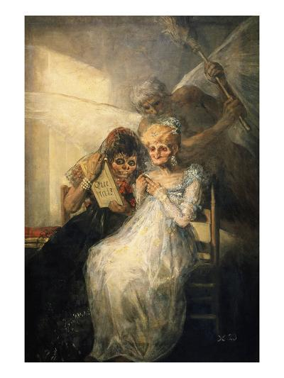 Time, also Called the Old Women-Francisco de Goya-Giclee Print