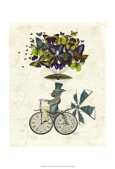 Time Flies Rabbit-Fab Funky-Art Print