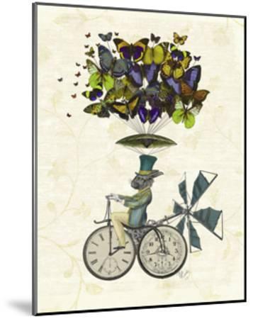Time Flies Rabbit-Fab Funky-Mounted Art Print
