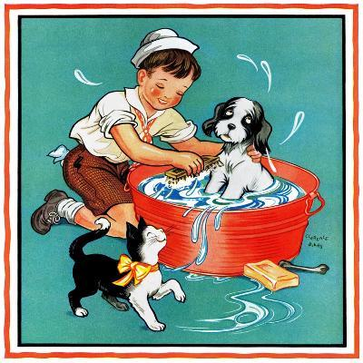 Time for a Bath - Child Life-Clarence Biers-Giclee Print