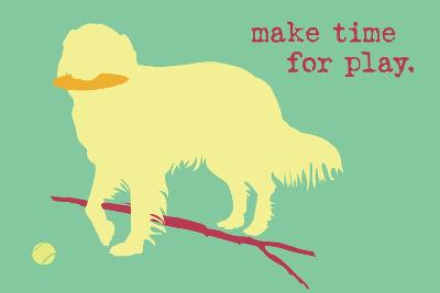 Time For Play - Green Version-Dog is Good-Art Print