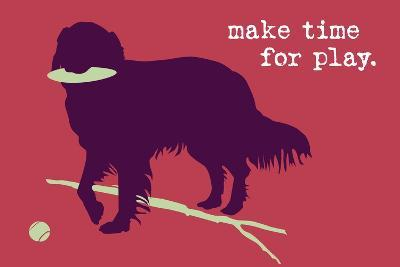 Time For Play - Red Version-Dog is Good-Art Print