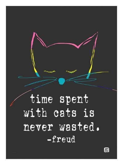 Time spent with cats-Lisa Weedn-Giclee Print