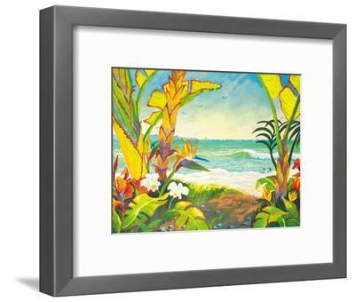 Time to Chill - Tropical Beach Paradise - Hawaii - Hawaiian Islands-Robin Wethe Altman-Framed Giclee Print