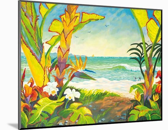 Time to Chill - Tropical Beach Paradise - Hawaii - Hawaiian Islands-Robin Wethe Altman-Mounted Giclee Print