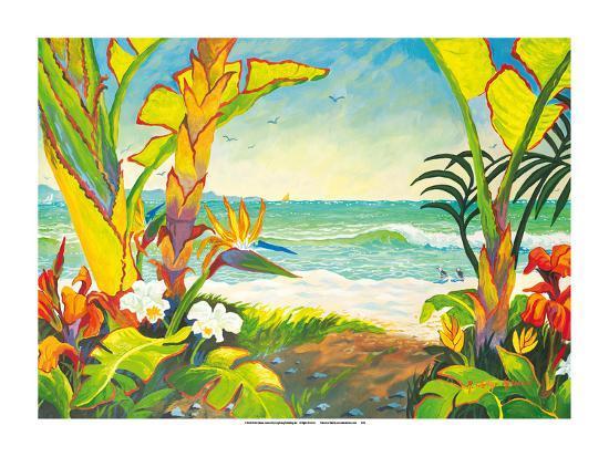 Time to Chill - Tropical Beach Paradise - Hawaii - Hawaiian Islands-Robin Wethe Altman-Premium Giclee Print