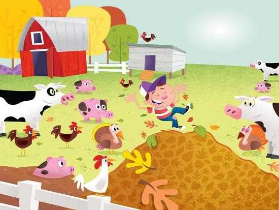 Time to Count - Farmyard - Turtle-Rob McClurkan-Giclee Print