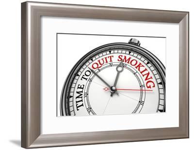 Time To Quit Smoking-donskarpo-Framed Art Print