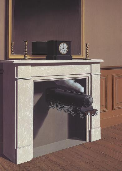 Time Transfixed-Rene Magritte-Art Print
