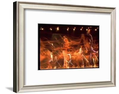 Timed Exposure of Eliot Field Ballet Company Performing-Gjon Mili-Framed Premium Photographic Print