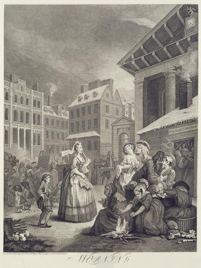 Times of the Day: Morning-William Hogarth-Giclee Print