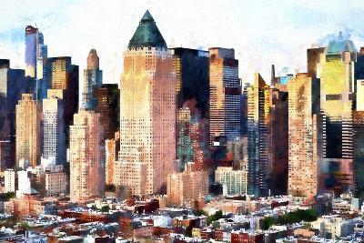 Times Square Architecture-Philippe Hugonnard-Giclee Print