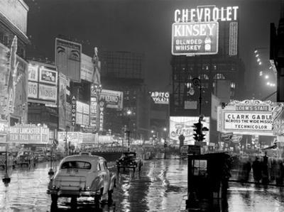 Times Square at night, NYC, 1951