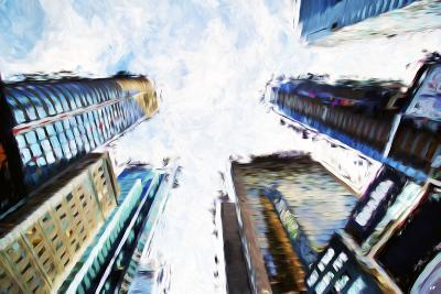 Times Square Buildings II - In the Style of Oil Painting-Philippe Hugonnard-Giclee Print