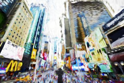 Times Square Buildings III - In the Style of Oil Painting-Philippe Hugonnard-Giclee Print