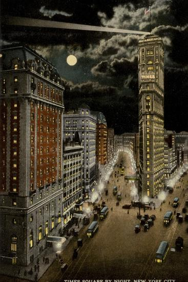 Times Square by Night, New York City, USA--Photographic Print
