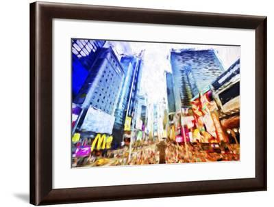 Times Square Colors - In the Style of Oil Painting-Philippe Hugonnard-Framed Giclee Print