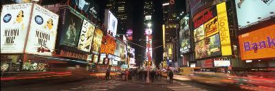Times Square in Midtown Manhattan Illuminated at Night-Design Pics Inc-Photographic Print
