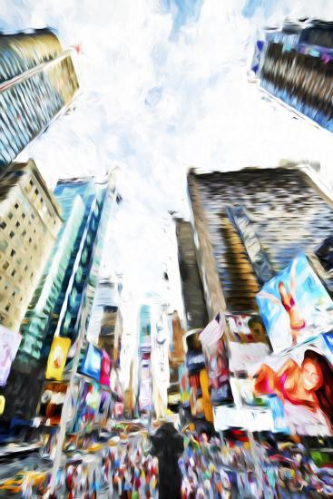Times Square IV - In the Style of Oil Painting-Philippe Hugonnard-Giclee Print