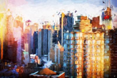 Times Square Life - In the Style of Oil Painting-Philippe Hugonnard-Giclee Print