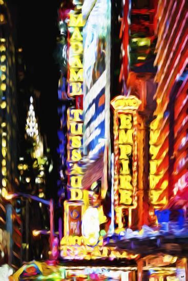 Times Square Night III - In the Style of Oil Painting-Philippe Hugonnard-Giclee Print