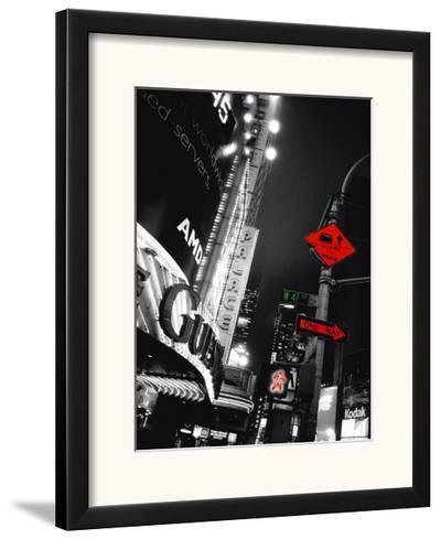 Times Square Night-Anne Valverde-Framed Art Print