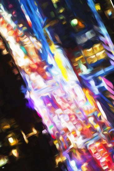 Times Square Traffic - In the Style of Oil Painting-Philippe Hugonnard-Giclee Print