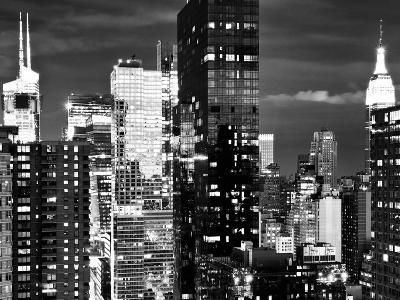 Times Square with Empire State Building, Architecture and Buildings, Manhattan, NYC-Philippe Hugonnard-Photographic Print