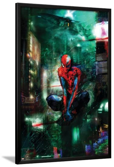 Timestorm 2009/2099 No.1 Cover: Spider-Man-Christopher Shy-Lamina Framed Poster