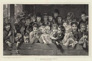 At a French Puppet-Show by Timoleon Marie Lobrichon