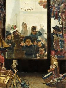 The Toyshop Window by Timoleon Marie Lobrichon