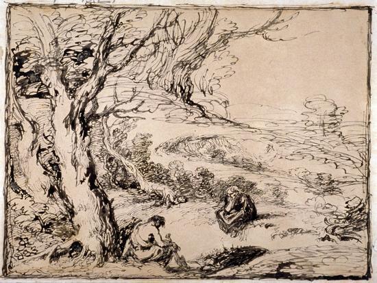 Timon and Apemantus, 1883-John Gilbert-Giclee Print