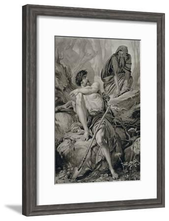 Timon and Apemantus, from Timon of Athens by William Shakespeare--Framed Giclee Print