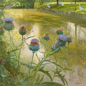 Cardoons Against the Moat by Timothy Easton