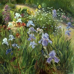 Irises and Oxeye Daisies, 1997 by Timothy Easton