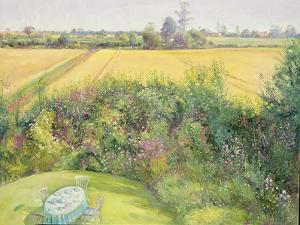 Roses and Cornfield by Timothy Easton