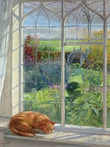 Sleeping Cat and Chinese Bridge by Timothy Easton