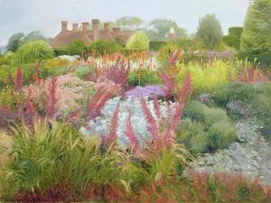 Spires of Kniphofia and Great Dixter by Timothy Easton