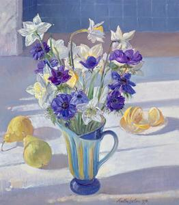 Spring Flowers and Lemons, 1994 by Timothy Easton