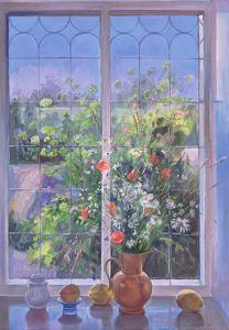 Summer Flowers at Dusk, 1990 by Timothy Easton