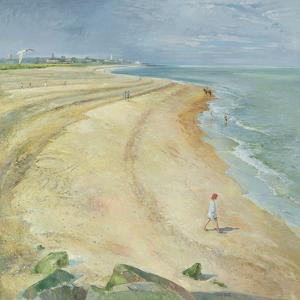 The Curving Beach, Southwold, 1997 by Timothy Easton