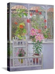 Through the Conservatory Window, 1992 by Timothy Easton