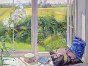 Window Seat and Lily, 1991 by Timothy Easton