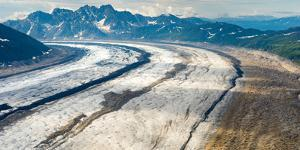Aerial View of the Ruth Glacier and the Alaska Range on a Sightseeing Flight from Talkeetna, Alaska by Timothy Mulholland