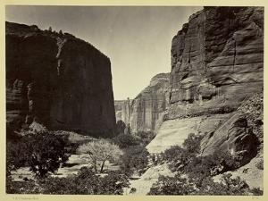 Head of Cañon De Chelle, Looking Down. Walls About 1200 Feet in Height, 1873 by Timothy O'Sullivan