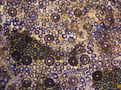 Timurid Decoration, Sufi Shrine of Gazargah, Herat Province, Afghanistan-Jane Sweeney-Photographic Print