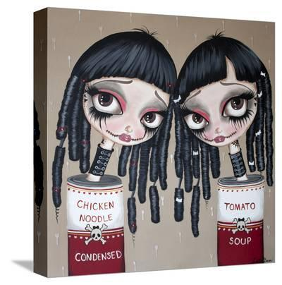 Tin Can Girls-Dottie Gleason-Stretched Canvas Print