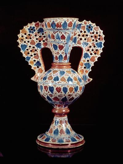 Tin-Glazed Vase with Lustre Decoration, Hispano-Moresque, Valencia, 3rd Quarter of 15th Century-Spanish School-Giclee Print