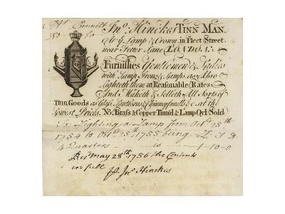 Tin Man, John Hinckes, Trade Card--Giclee Print