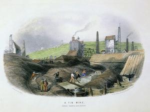 Tin Mine Between Camborne and Redruth, Cornwall, C1860